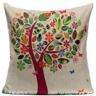 Linen Fresh Girl Flower Throw Pillow Case Cushion Cover Home Decor