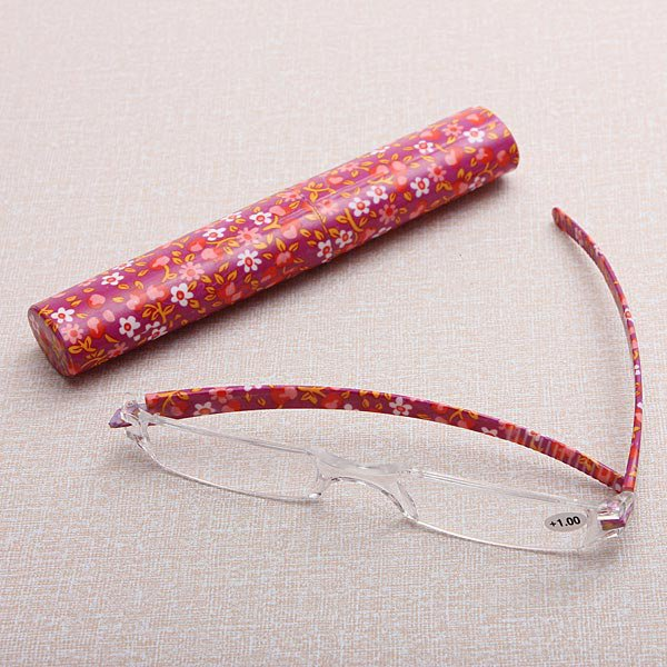 Rimless Reading Presbyopic Glasses With Case