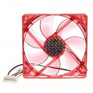 4 Pins 120x120x25mm 12V CPU Cooling Fan PC Computer Red LED Light