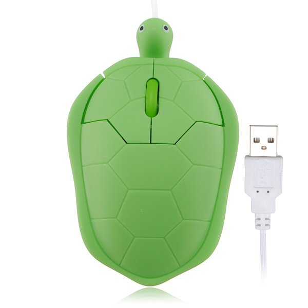 Three Color Cute Wired Turtle USB 1000dpi 3D Optical Mouse PC Laptop