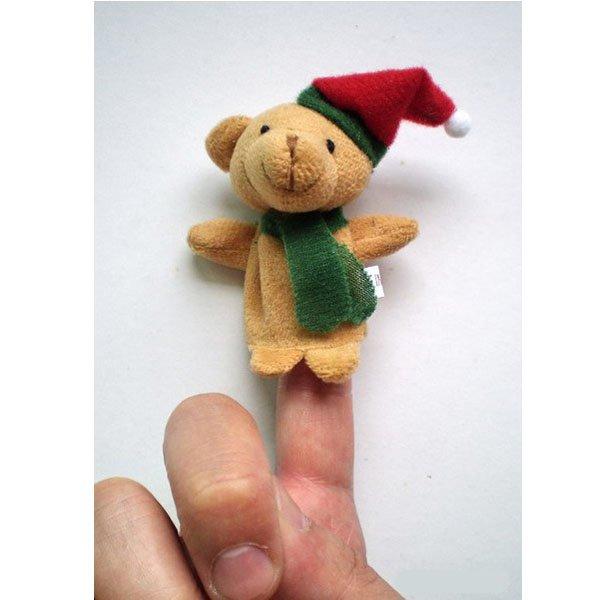 5pcs Christmas Cartoon Gift Puppet Finger Stuffed Toys