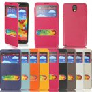 Leather Cover Case With View Window For Samsung Galaxy Note 3 N9000