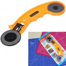 45mm Rotary Cutter Circular Fabric Cutting Leather Craft Tool With Spare Blade