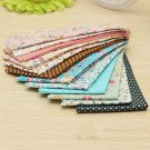 12PCS Cotton Craft Fabric Quilting Textile Sewing Doll Cloth