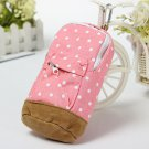 Polka Dot Canvas Pencil Bag Stationery Pen Pouch