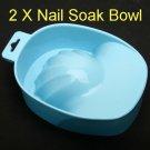 Nail Art Manicure Soak Soaker Bowl Acrylic Tip Tool