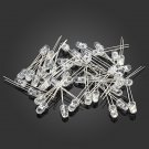 500Pcs 5 Colors 5mm F5 Ultra Bright Round LED Diode Kit Red / Green / Blue / White / Yellow