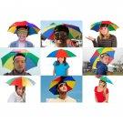 Foldable Rainbow Umbrella Sun Cap Golf Travel Camping Fishing Hunting