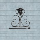Classical Black Iron Toilet Paper Roll Holder Bathroom Wall Rack