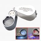 NEW 40X Metal Jeweller LED Microscope Magnifier Loupe + UV