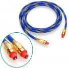 Premium 2M Toslink Digital Optical Fiber Audio Cable 6.5FT OD 5.0