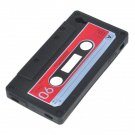 Unique Retro Cassette Tape Silicon Case for iPhone 4 4S Black
