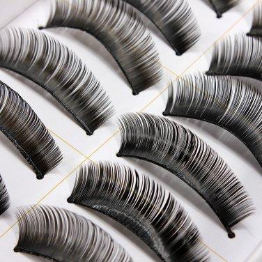 10 Pairs Fashion Black Long Volume False Eyelash Eye Makeup 010