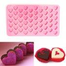 55 Holes Mini Heart Silicone Cake Muffin Chocolate Mold