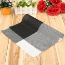 Grid PVC Woven Heat Insulation Placemat Table Decoration Mat