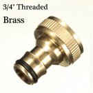 3/4 brass threaded garden hose water tap fittings solide connector