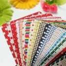 27 Sheets Decorative Masking Sticker Set Labeling Craft Scrapbooking