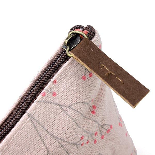 Rural Style Floral Pencil Pen Case Cosmetic Makeup Bag