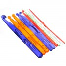 Multicolour Plastic Handle Crochet Hooks Needle Set