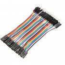 40 x 10cm Male To Female Jumper Wires Calbe 2.54mm
