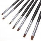 7Pcs Acrylic UV Gel Nail Art Drawing Polish Brushes Pen Set