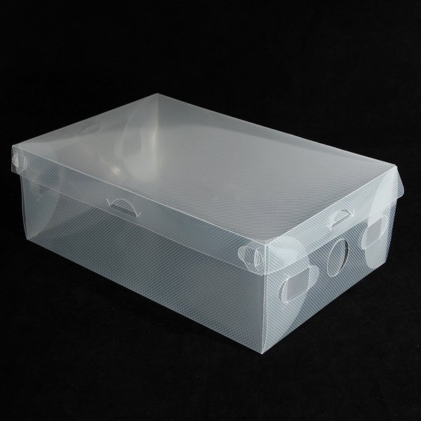 Clear Stackable Plastic Shoe Storage Boxes