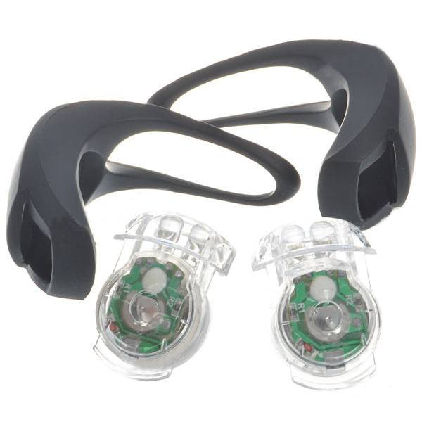 New LED 3-Mode Fog Bicycle Lights - Black (Included 2*CR2032 battery)
