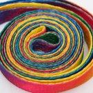 Mens Shoelaces Rainbow Multi-Colors Flat Shoe Laces