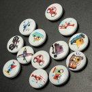 100pcs Mixed Transport Buttons 2 Holes Sewing Scrapbooking Craft DIY