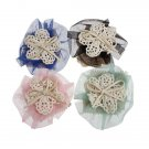 4 Colors Baby Headband Soft Cotton Elastic Flower Headdress