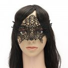 Sexy Lady Black Hollow Lace Eye Mask Halloween Masquerade Mask