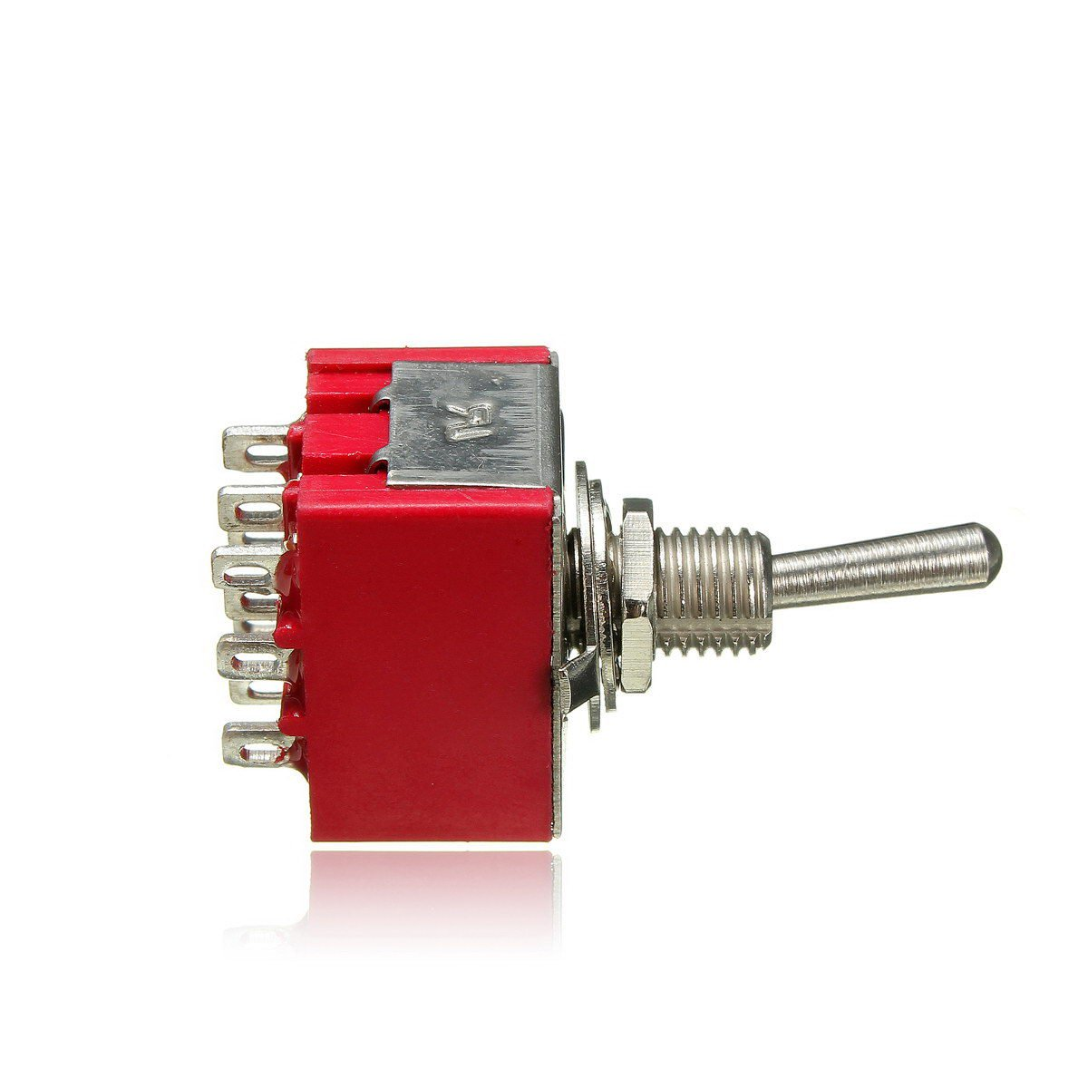 Mini Red 2 Position Latching Toggle Switch 9-PIN 3PDT 250V 2A 125V 5A ON-ON