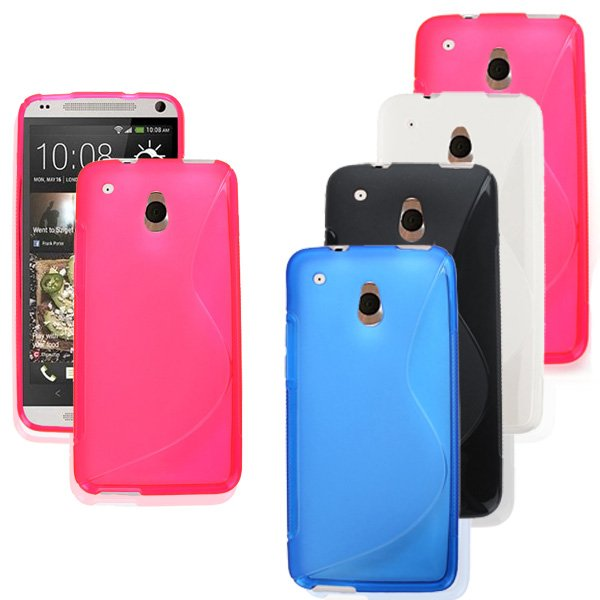S-Line Flexible TPU Soft Gel Silicone Case For HTC One Mini M4