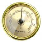 Precision Analog Hygrometer Moisture Meter For Tobacco Cigar Humidor
