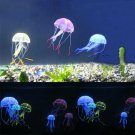 8.5 CM Artificial Silicone Vivid Jellyfish For Fish Aquarium Decoration