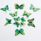 12Pcs 3D Butterfly Wall Sticker Fridge Magnet Home Decor Art Applique