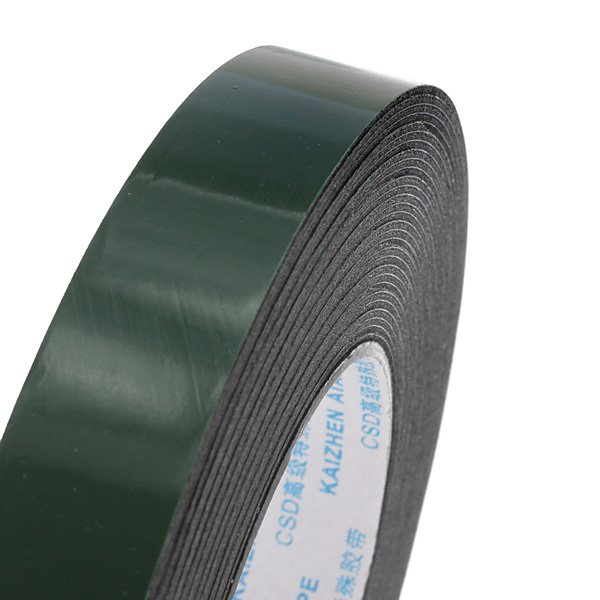 19mm x 10m Car Double Sided Foam Adhesive Tape Auto Truck Badge Trim