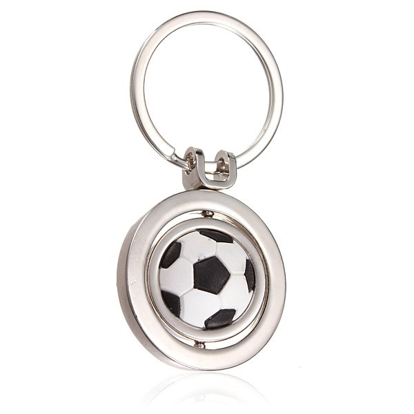 3D Sports Rotating Soccer Keychain Keyring Key Chain Ring