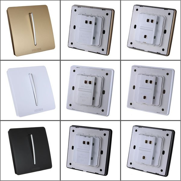 10A 220V One 1 Gang Button Single / Double Control Wall Light Switch