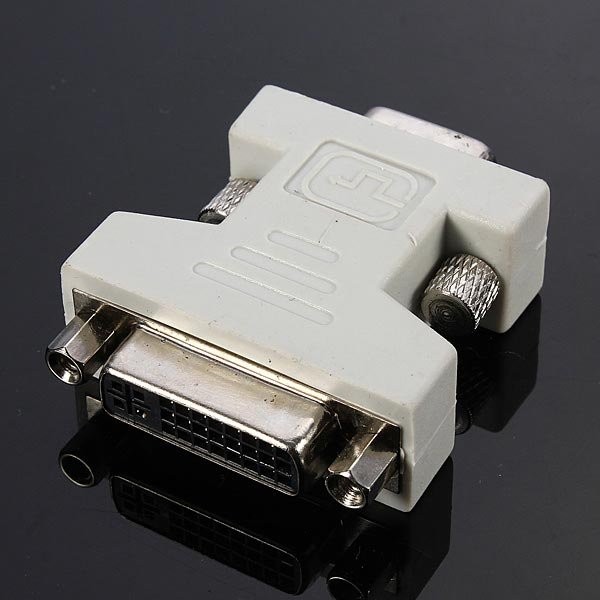 DVI-I Female Analog 24+5Pin to VGA Male 15Pin Connector Adapter for PC