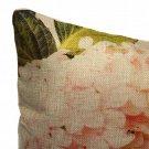 Vintage Linen Flower Bird Throw Pillow Case Sofa Cushion Cover