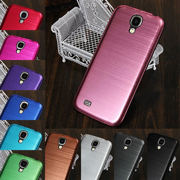 Brushed Metal Back Case For Samsung Galaxy S4 i9500