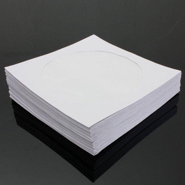 50pcs 5 Inch DVD CD Disk Paper Sleeve Case Cover Holder Envelope