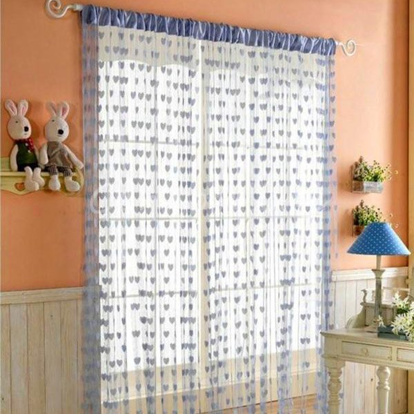 Beautiful Tassel Heart-Shaped Door Window Curtain Home Decorations