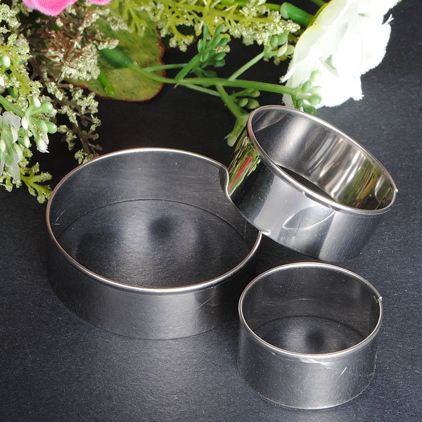 Stainless Steel Round Circle Cookie Fondant Cake Mould Cutter