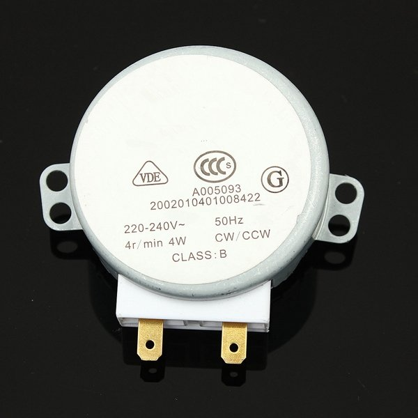 Microwave Oven Turntable Synchronous Motor TYJ50-8A7 4RPM AC 220-240V