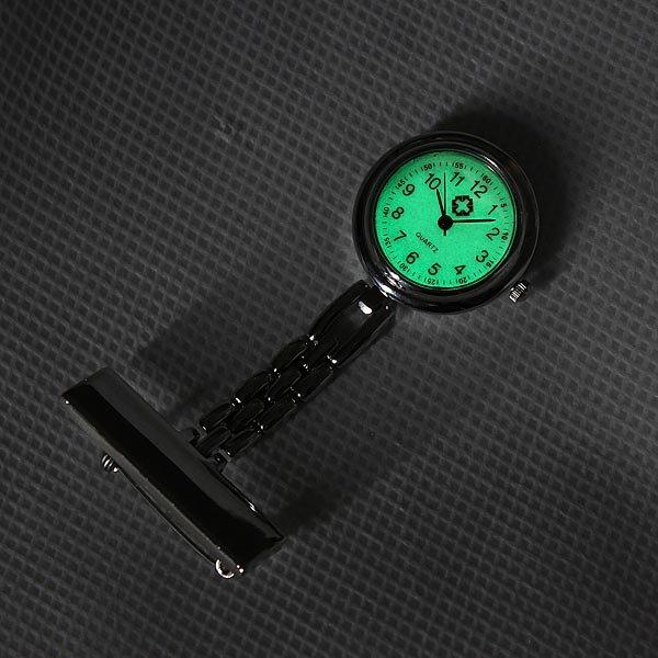 Silver Fluorescent Noctilucent Nurse Brooch Clip Quartz Pocket Watch
