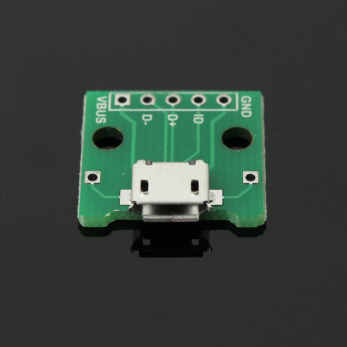 5Pcs 5Pin MICRO USB To DIP Adapter Module B Type Pcb