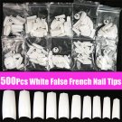 500pcs White Acrylic French False 3D Nail Art Half Tips