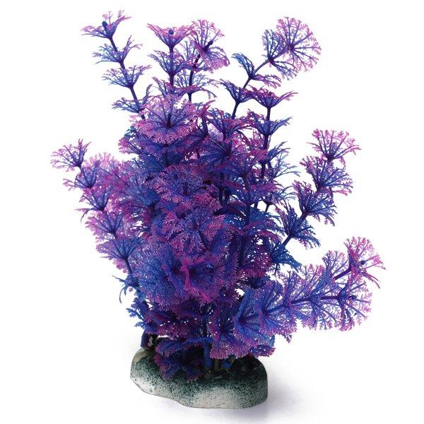 Aquarium Blue Purple Artificial Fish Tank Plastic Water Plants